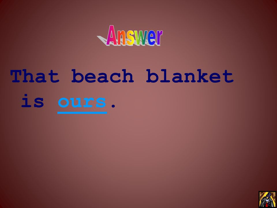 That beach blanket is ____.