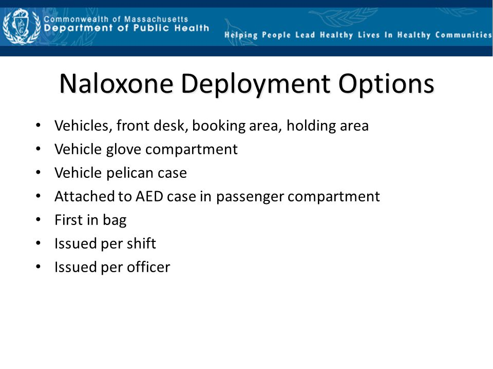 Questions and Answers Will Naloxone work on an alcohol overdose.