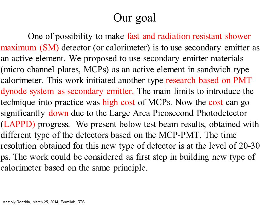 Proposal of new type calorimeter, radiation resistant and fast, 1990.