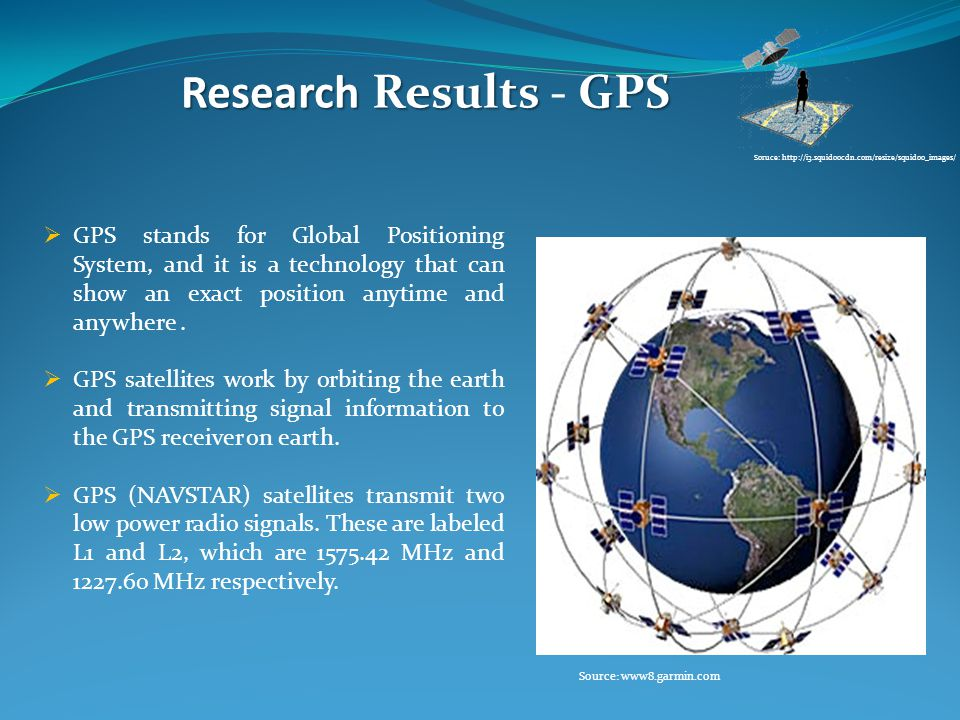 ResearchResultsGPS Research Results - GPS  GPS stands for Global Positioning System, and it is a technology that can show an exact position anytime and anywhere.