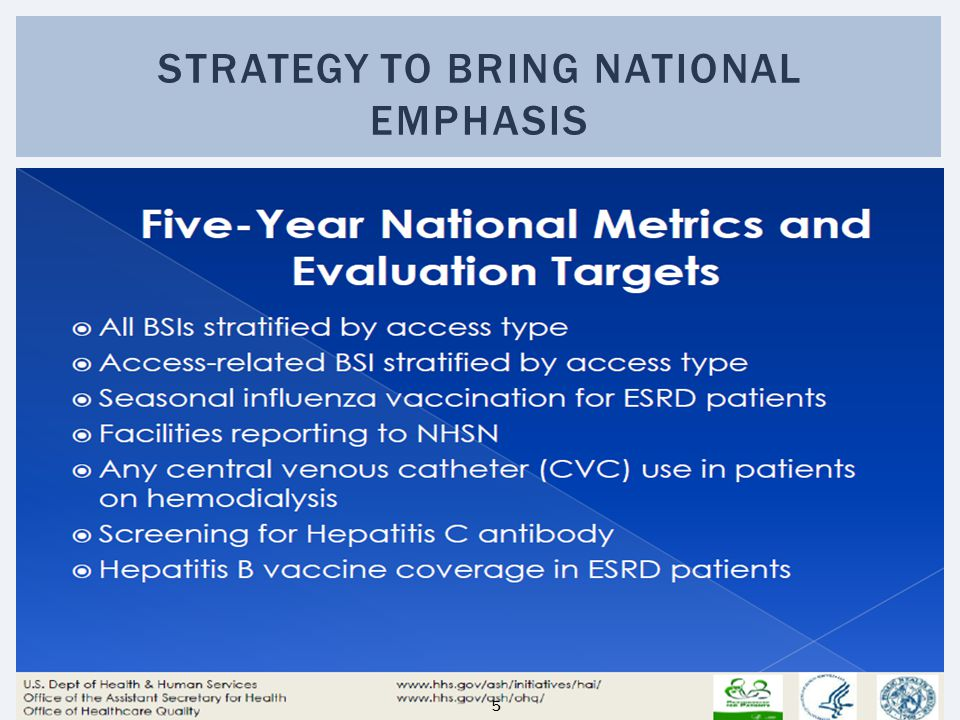 STRATEGY TO BRING NATIONAL EMPHASIS 5