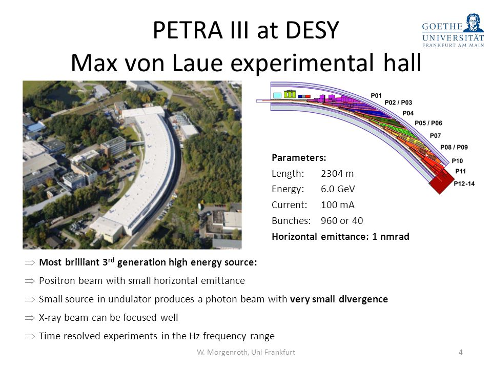 Outline PETRA III at DESY Extreme Conditions Beamline (ECB) – off-axis laser heating – on-axis laser heating – fluorescence setup – CO 2 laser heating system – Extreme Conditions Science Infrastructure Outlook 5W.