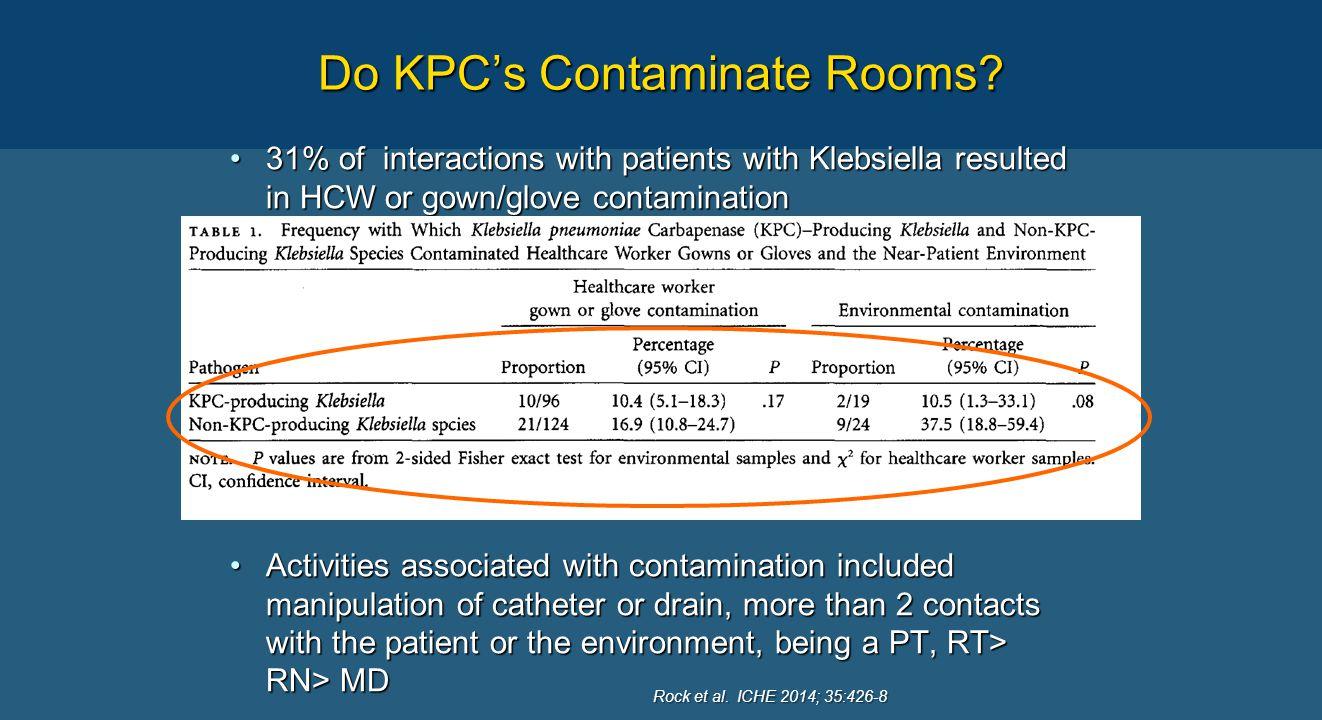 Do KPC's Contaminate Rooms.