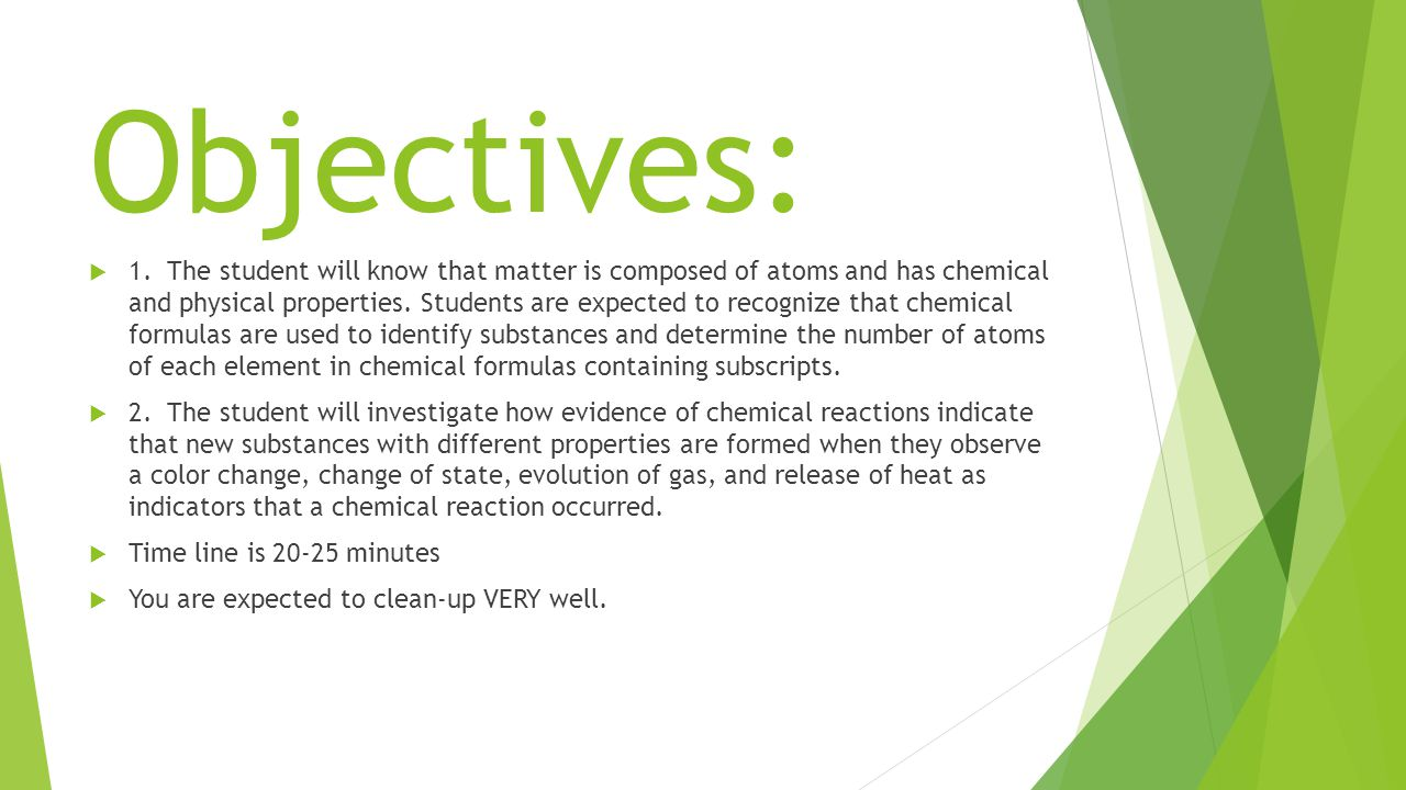 Objectives:  1.