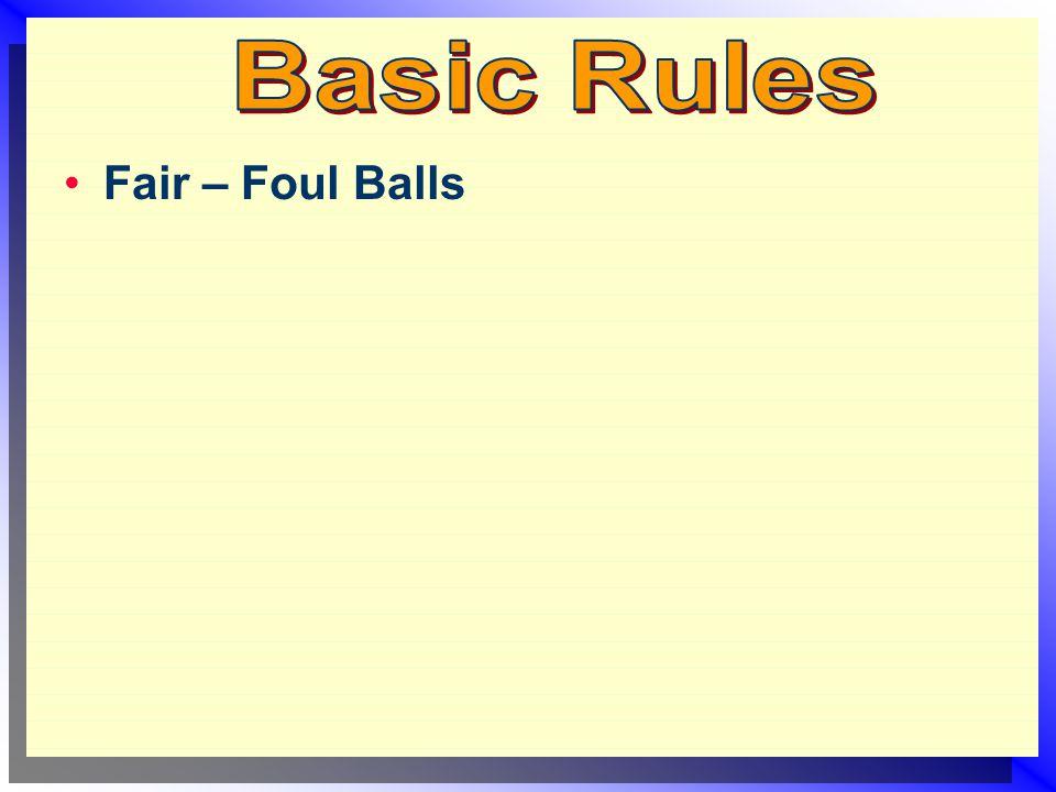 Fair – Foul Balls