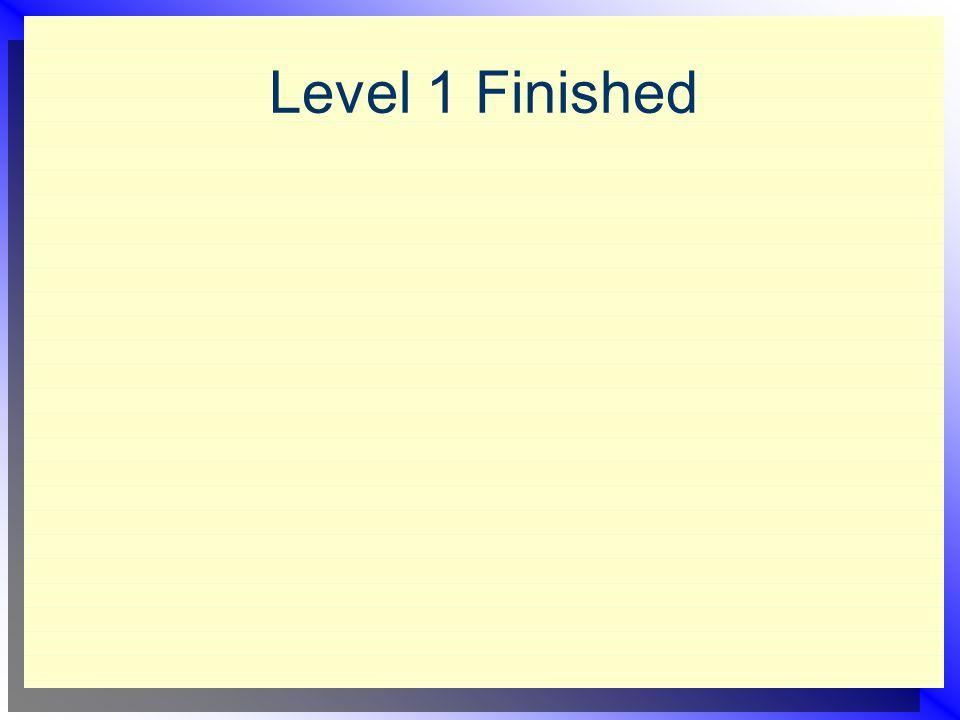Level 1 Finished