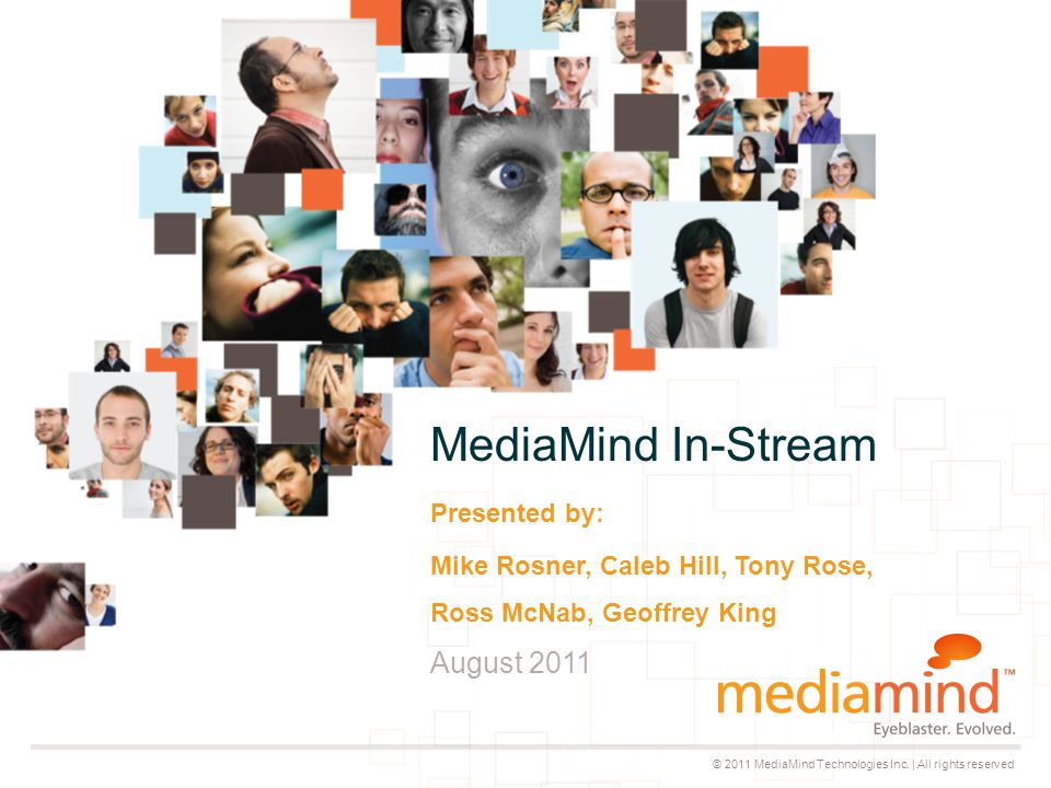 © 2011 MediaMind Technologies Inc.