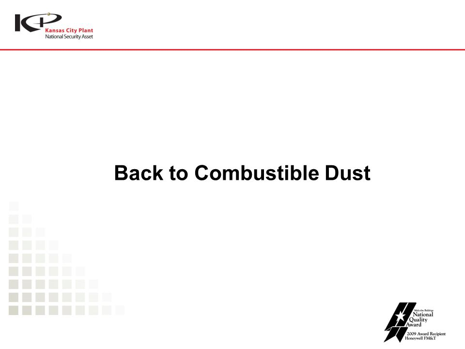 Back to Combustible Dust