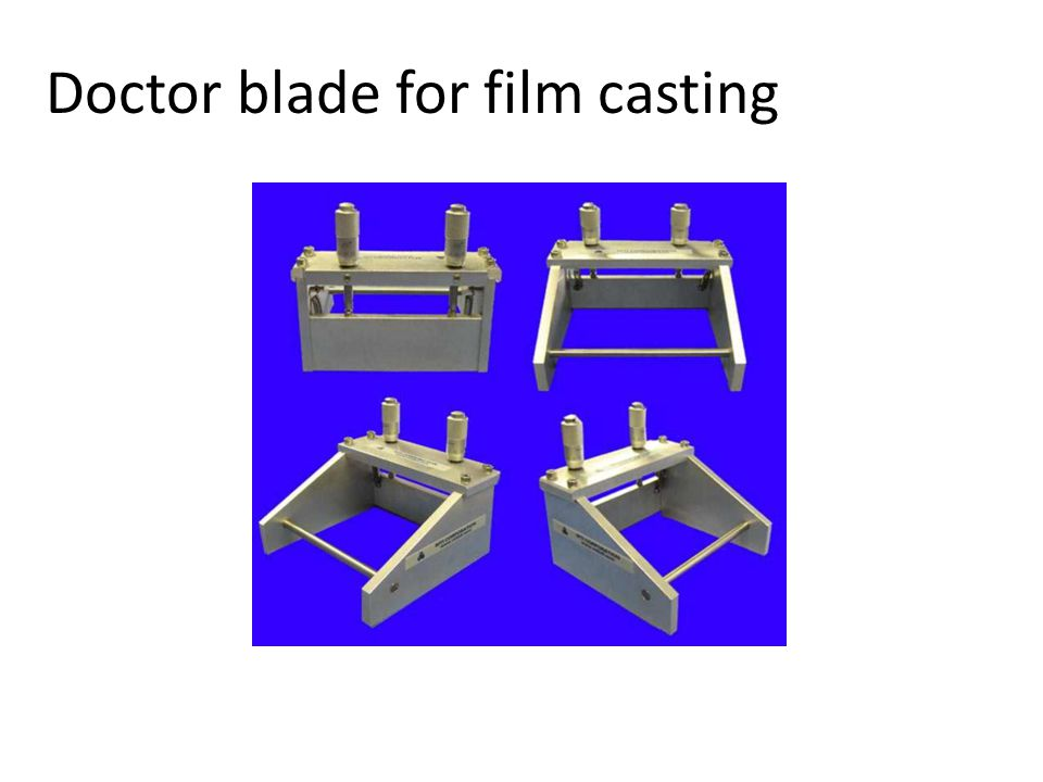 Doctor blade for film casting