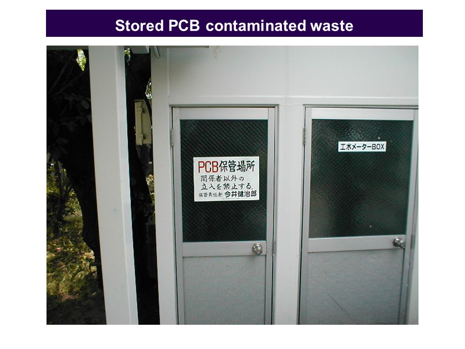 Stored PCB contaminated waste