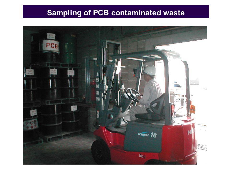 Sampling of PCB contaminated waste