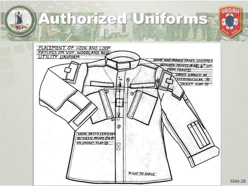 Slide 28 Authorized Uniforms