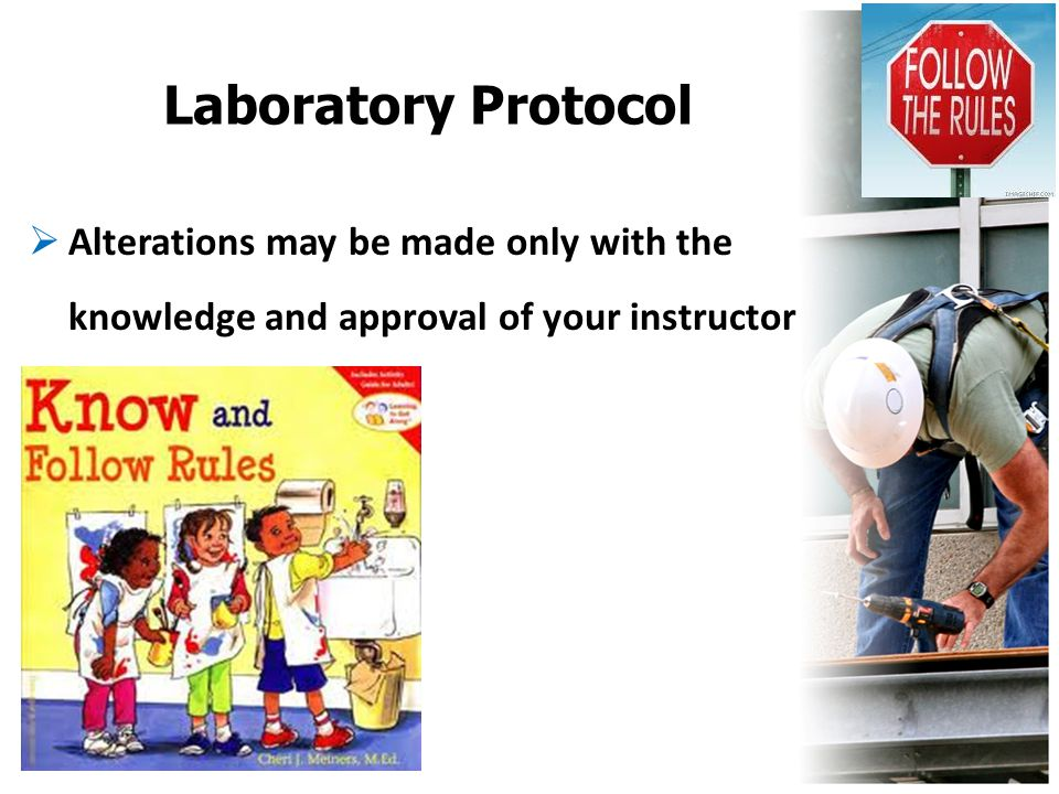 Laboratory Protocol  Alterations may be made only with the knowledge and approval of your instructor