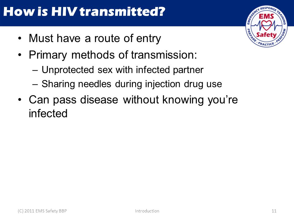 How is HIV transmitted.