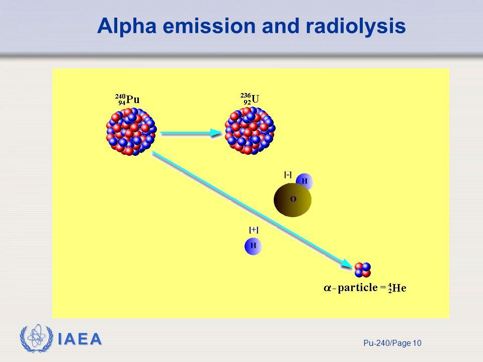 IAEA Pu-240/Page 10 Alpha emission and radiolysis