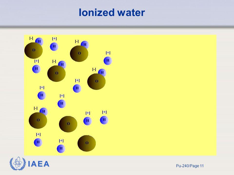 IAEA Pu-240/Page 11 Ionized water