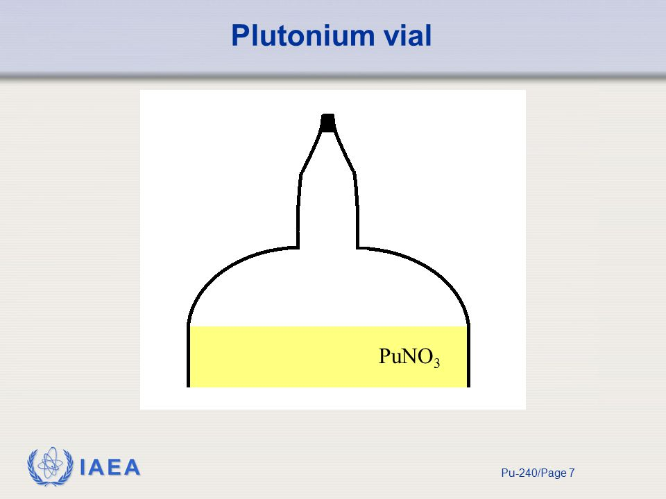 IAEA Pu-240/Page 7 Plutonium vial PuNO 3