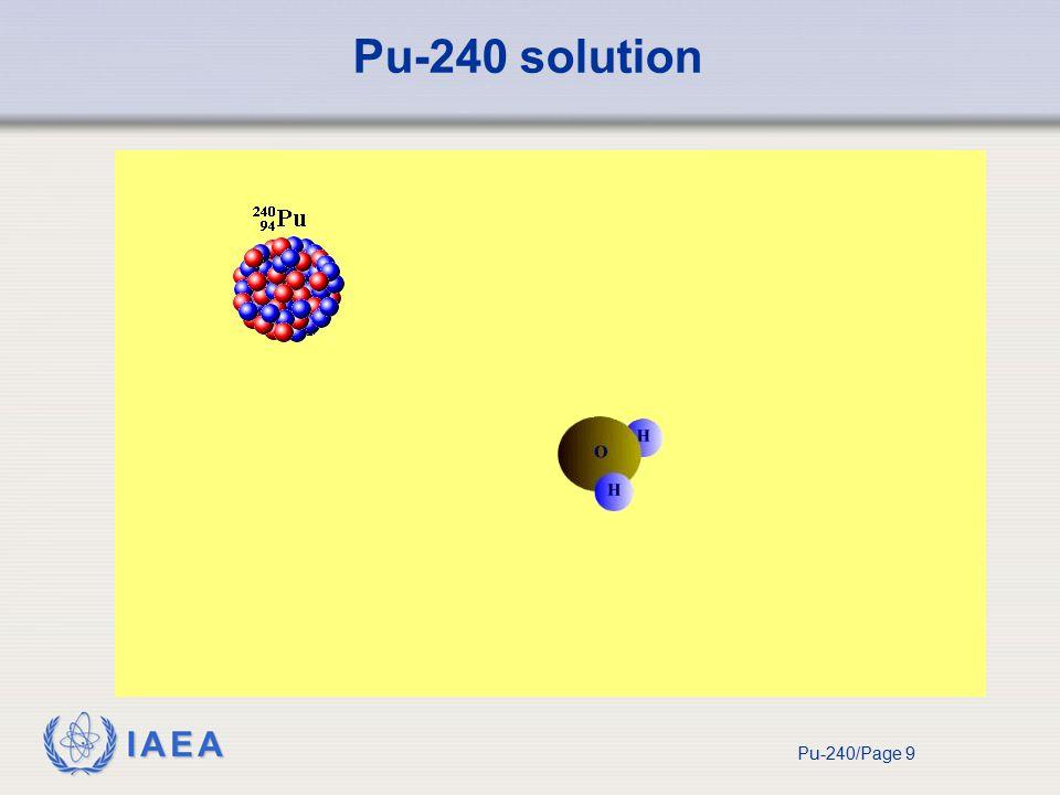 IAEA Pu-240/Page 9 Pu-240 solution