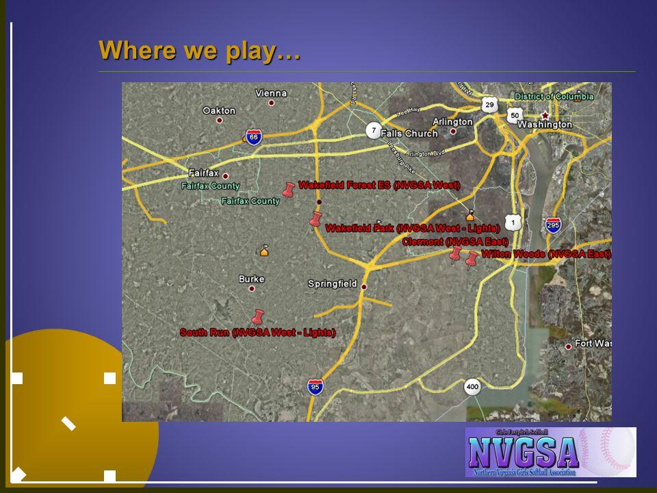 Where we play…