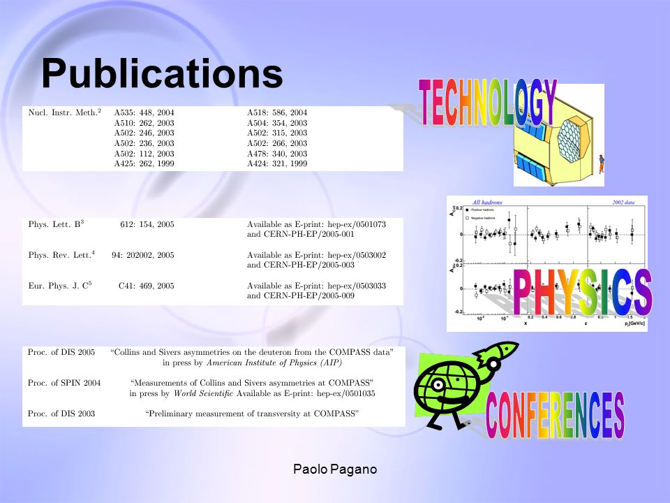 Paolo Pagano Publications