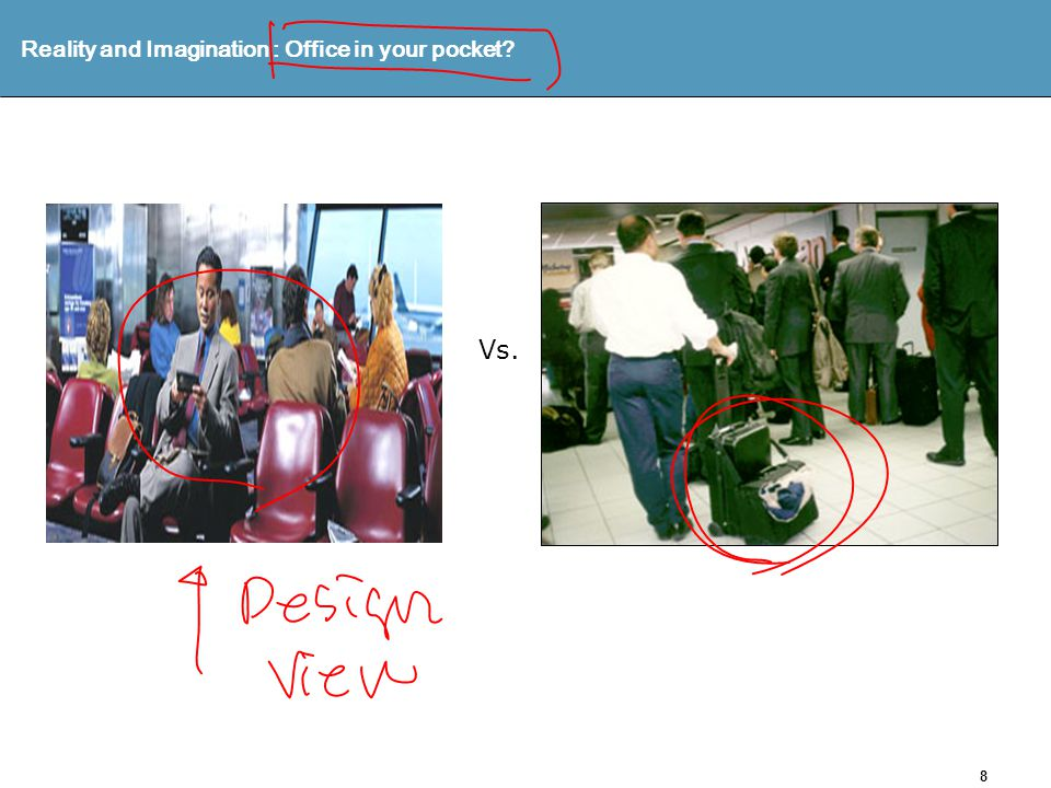 8 Reality and Imagination : Office in your pocket Vs.