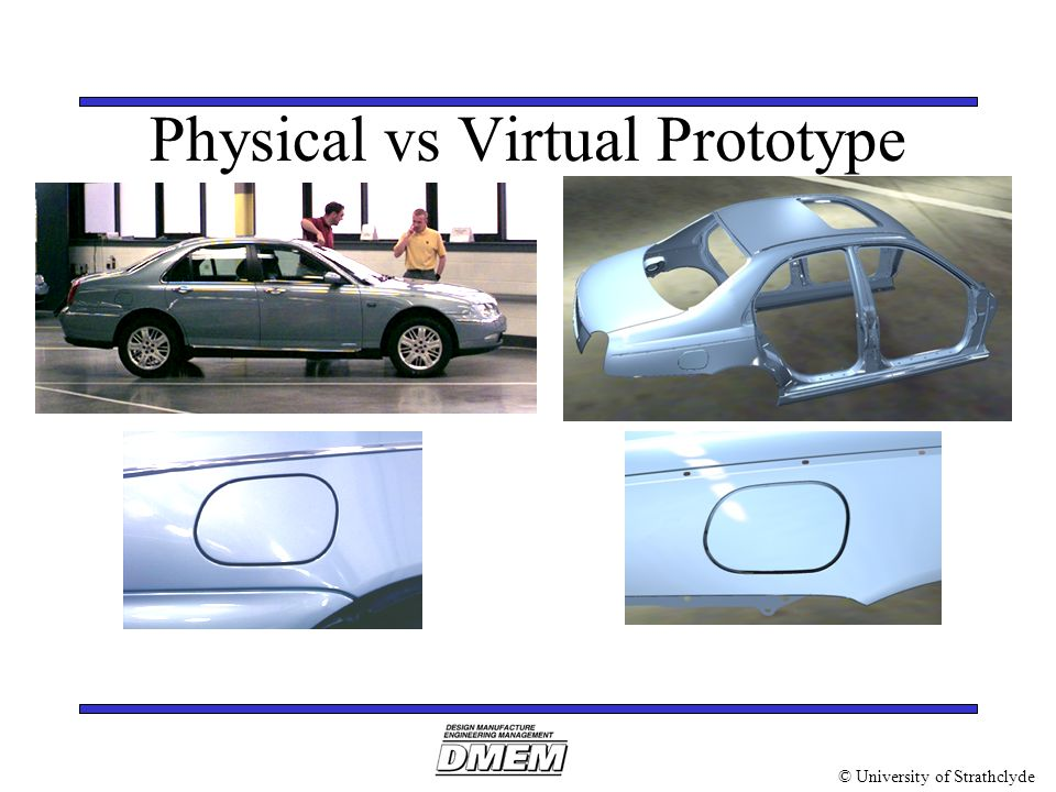 © University of Strathclyde Physical vs Virtual Prototype