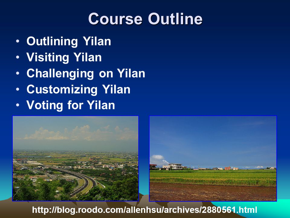 Voting for Yilan Voting for Yilan My Tourist Attraction Choose your place and find your partners.