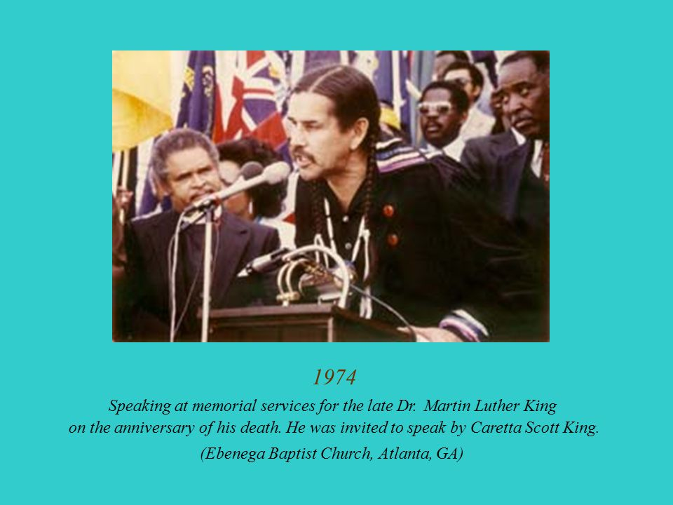 1974 Speaking at memorial services for the late Dr.