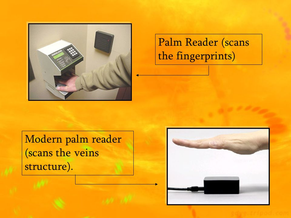  Mostly used for security and privacy, this small device can read your palm.  You put your hand in front of it and it scan your fingerprints  More
