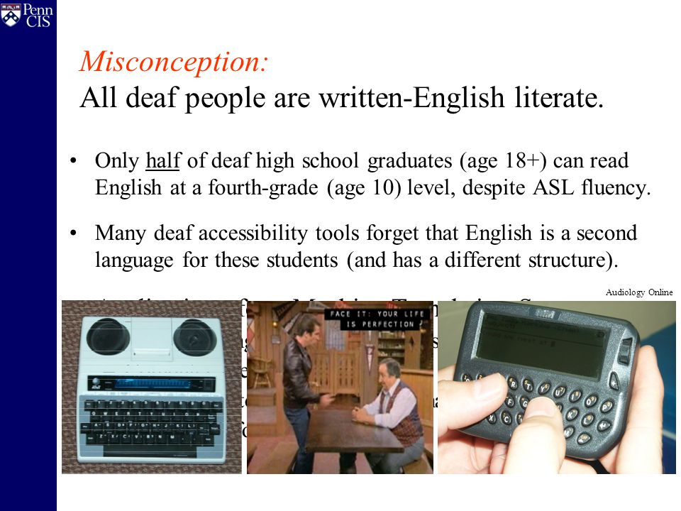 Only half of deaf high school graduates (age 18+) can read English at a fourth-grade (age 10) level, despite ASL fluency.