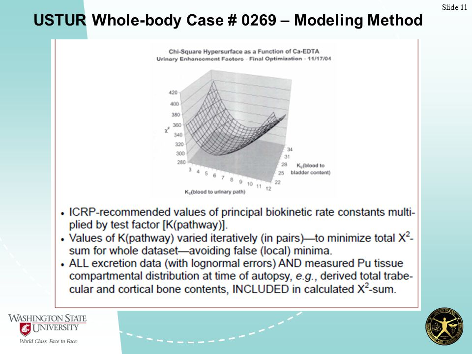 Slide 11 USTUR Whole-body Case # 0269 – Modeling Method