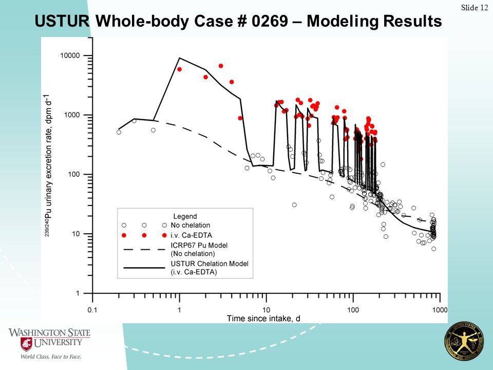 Slide 12 USTUR Whole-body Case # 0269 – Modeling Results