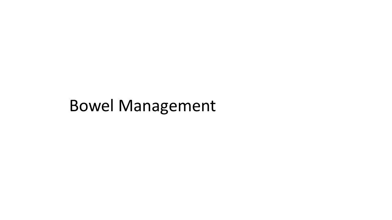 Bowel Management