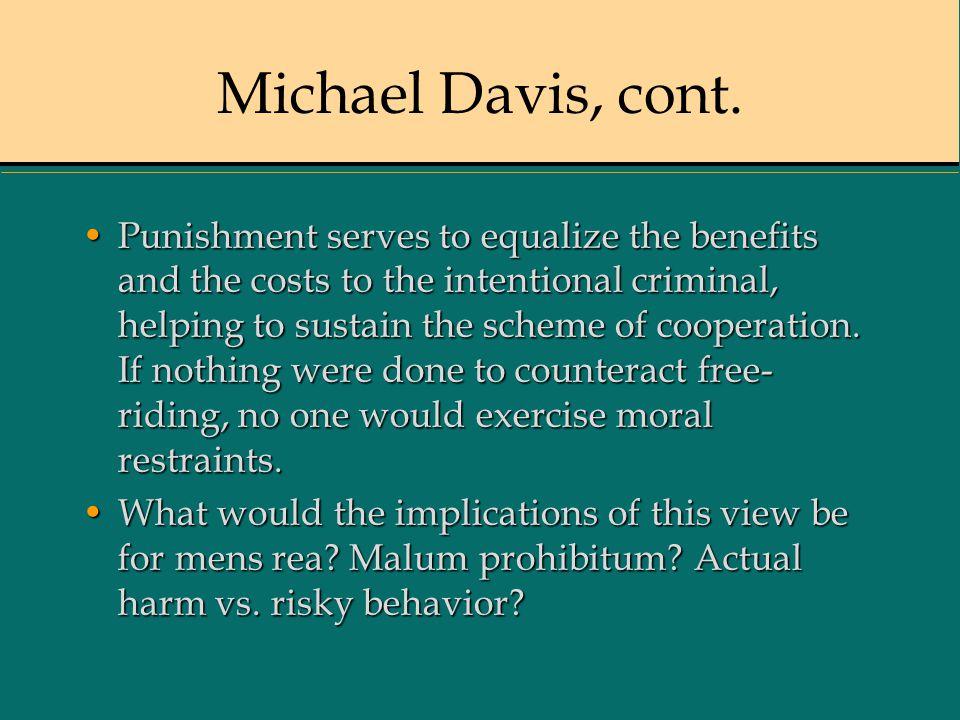 Michael Davis, cont.