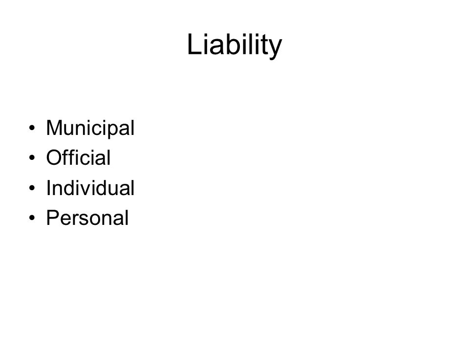 Liability Municipal Official Individual Personal