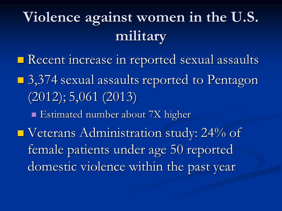 Violence against women in the U.S.