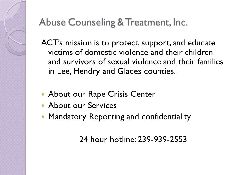 Abuse Counseling & Treatment, Inc.