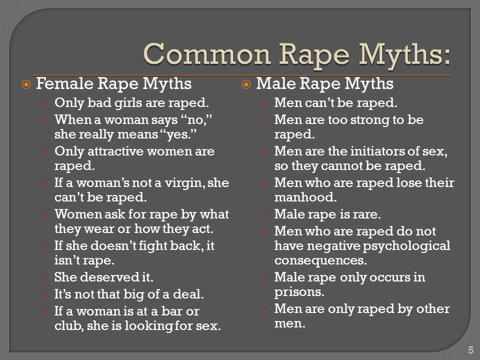  Myth: Same-sex sexual assault does not occur. Fact: It does.