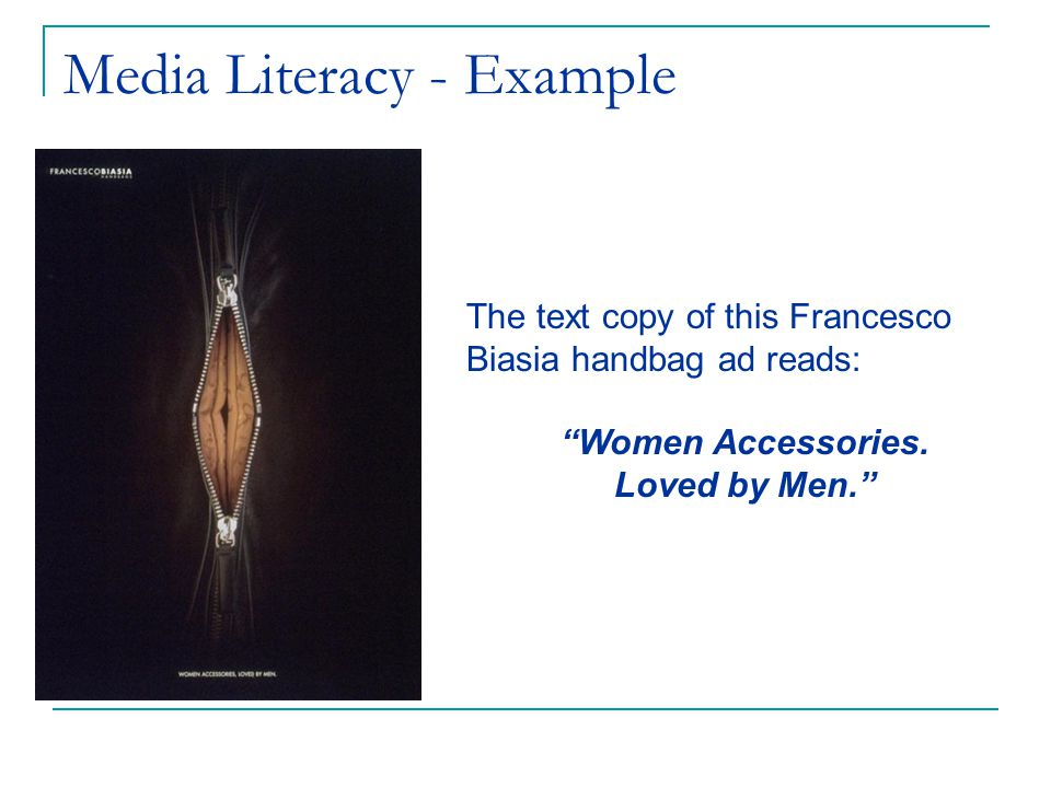 The text copy of this Francesco Biasia handbag ad reads: Women Accessories. Loved by Men.