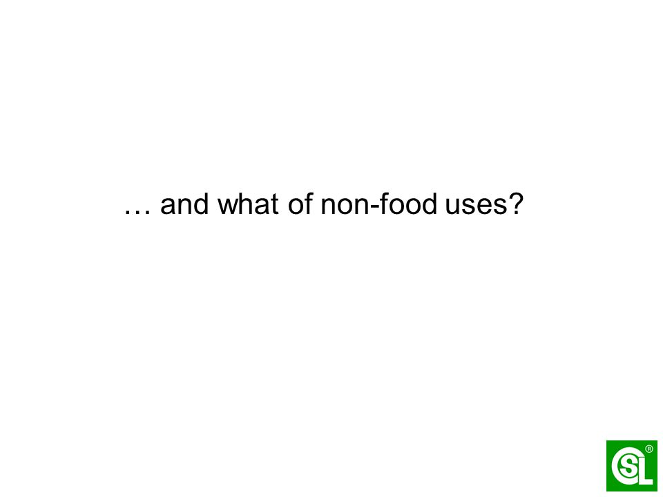 … and what of non-food uses