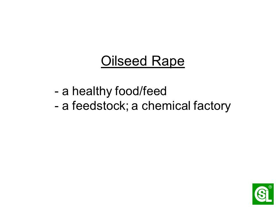 Oilseed Rape - a healthy food/feed - a feedstock; a chemical factory