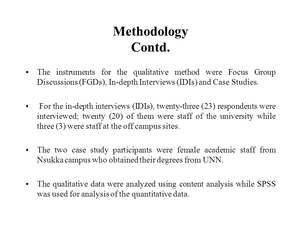 Methodology Contd.