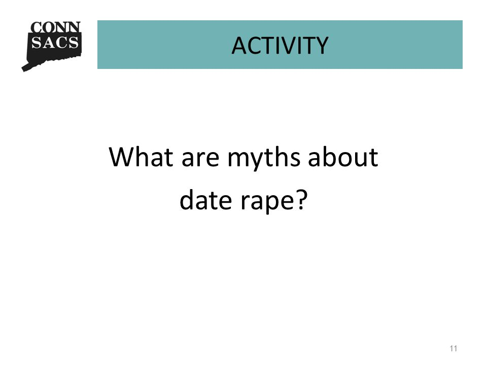 ACTIVITY What are myths about date rape? 11