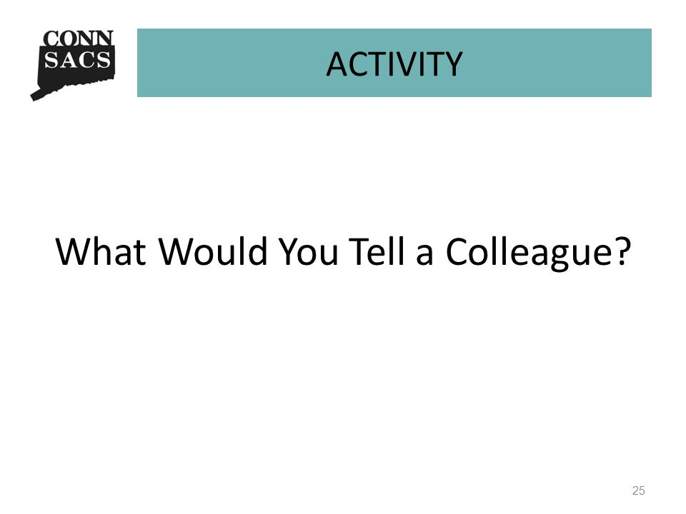 ACTIVITY What Would You Tell a Colleague 25