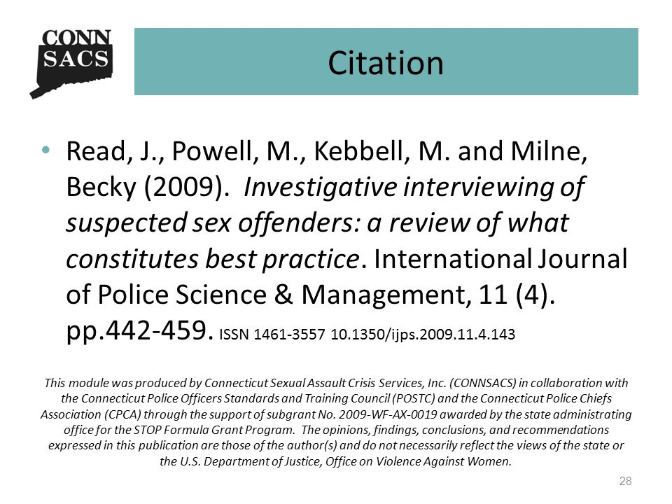 Citation Read, J., Powell, M., Kebbell, M. and Milne, Becky (2009).