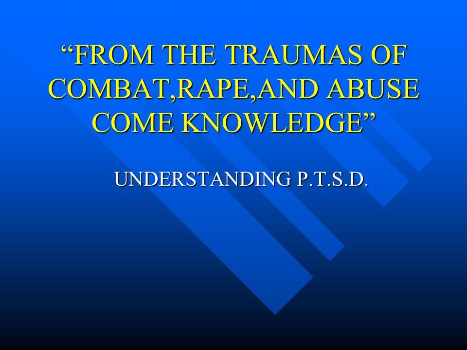 What effect does it have on those around a PTSD sufferer.