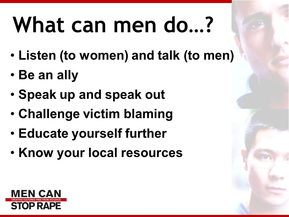 What can men do….