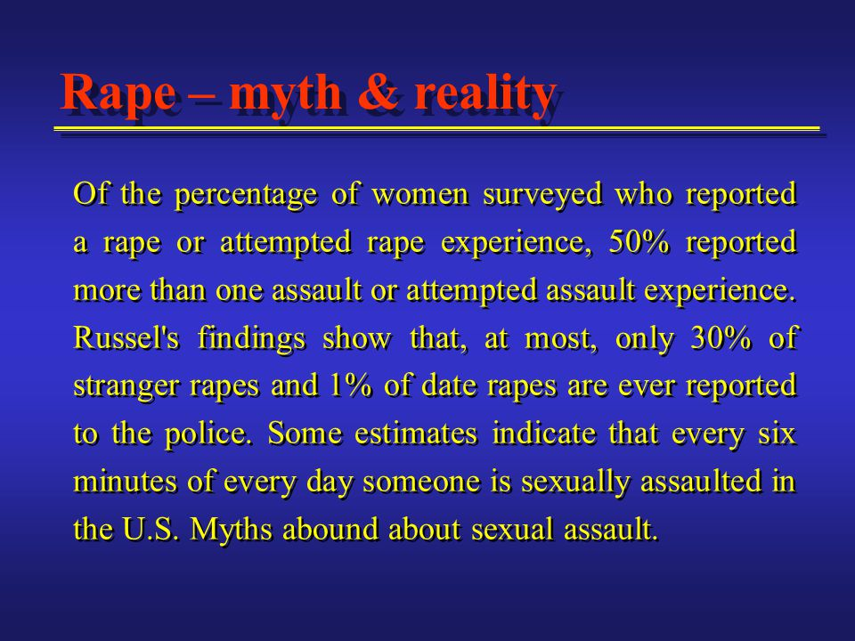 MYTH: It is impossible to sexually assault a man.