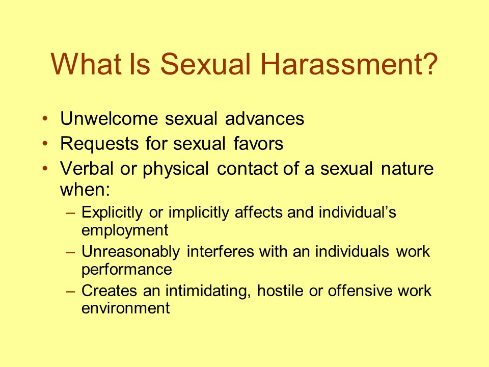 Flirtation versus Harassment Whether you have equal power Whether you are approached appropriately Whether you wish to continue contact Different cultural expectations lead to misinterpretation Men and women perceive actions differently