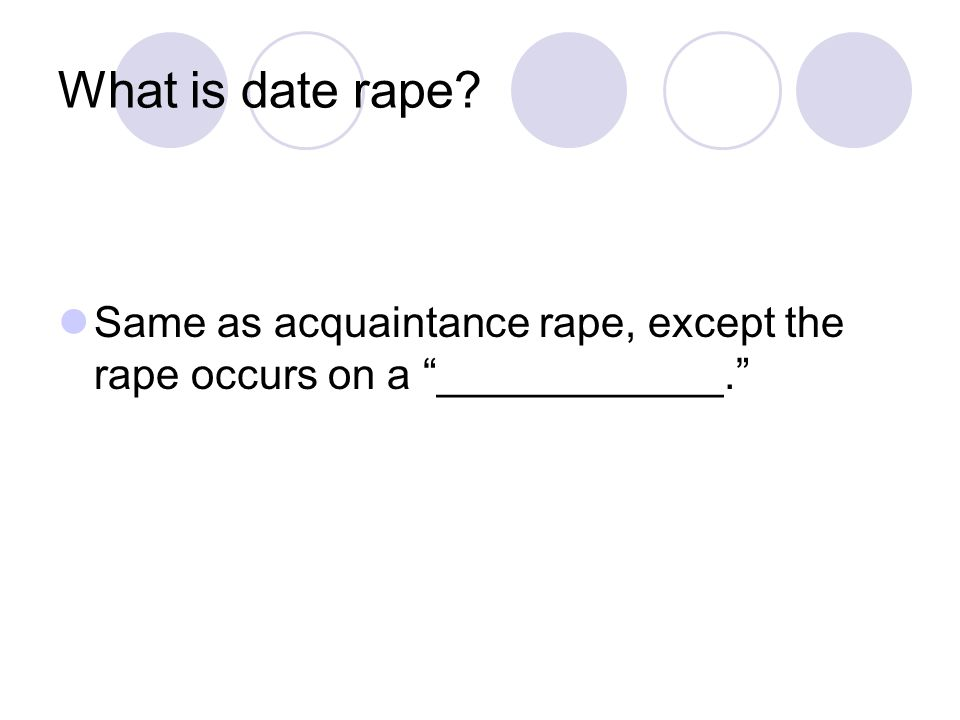 What is date rape Same as acquaintance rape, except the rape occurs on a ____________.